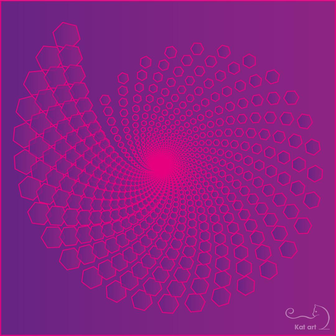 spiral-art gemaakt door Kat-Art