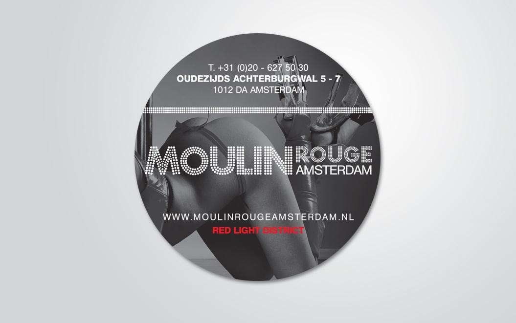 sticker gemaakt door Kat Design voor Moulin Rouge Amsterdam