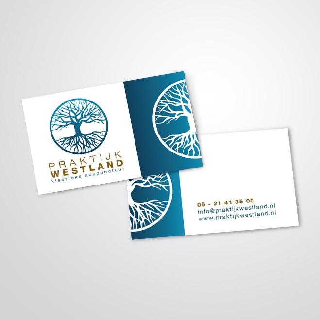 visitekaartjes gemaakt voor Praktijk Westland