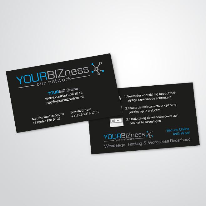 visitekaartjes gemaakt door Kat Design voor Yourbiz Online