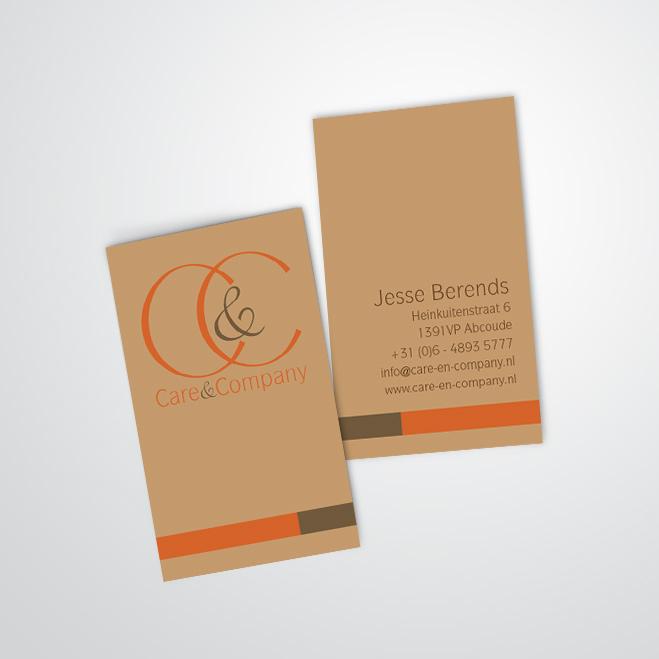 visitekaartjes gemaakt door Kat Design voor Care & Company