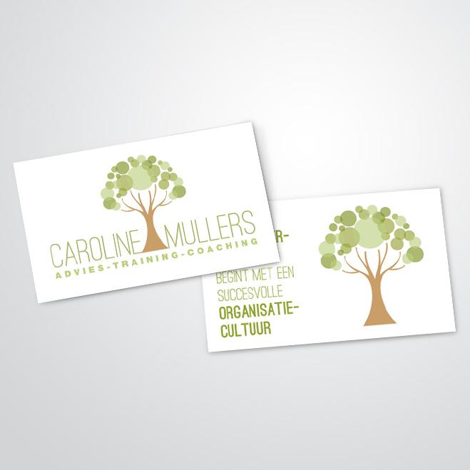 visitekaartjes gemaakt door Kat Design voor Praktijk voor Caroline Mullers