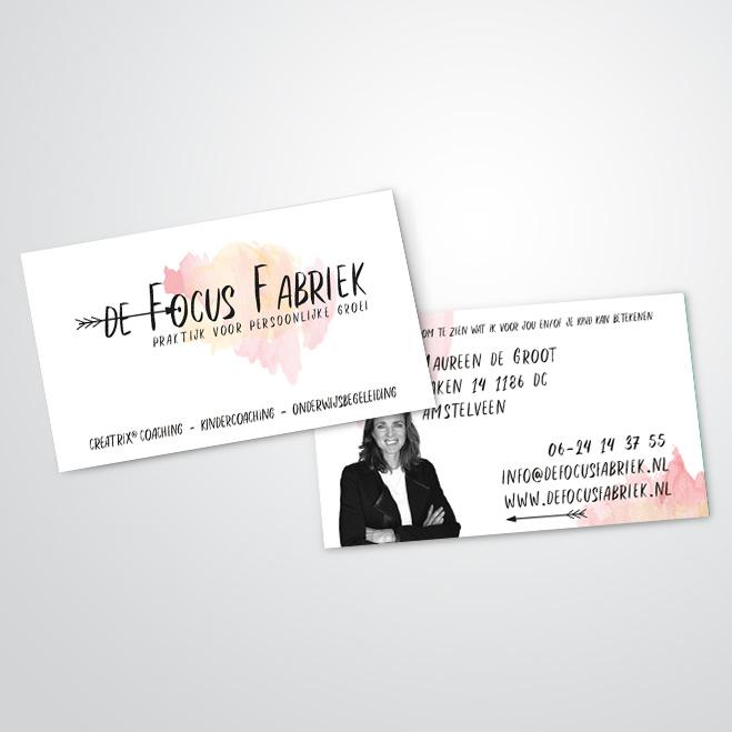 visitekaartjes gemaakt door Kat Design voor de Focusfabriek