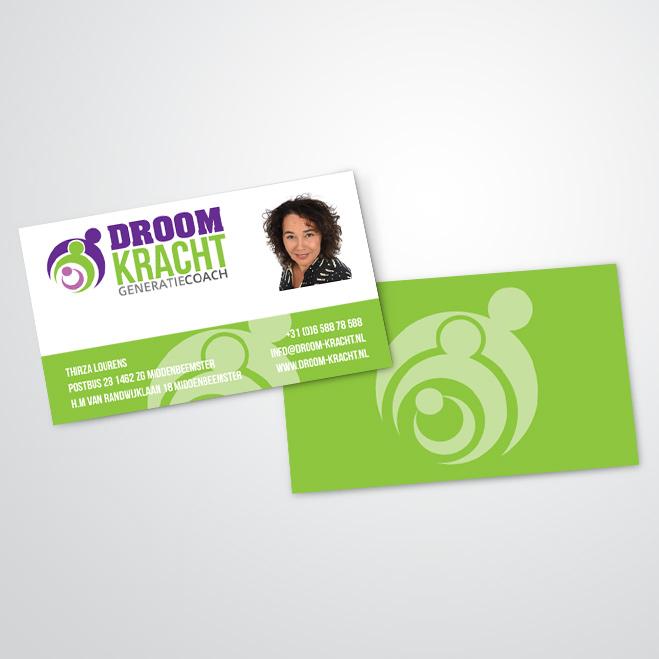 visitekaartjes gemaakt door Kat Design voor droomkracht