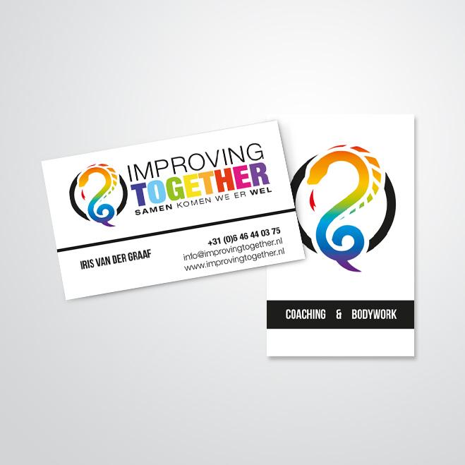 visitekaartjes gemaakt voor Improving Together