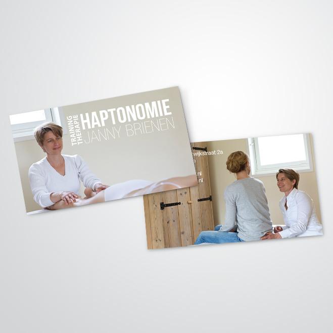 visitekaartjes gemaakt door Kat Design voor Janny Brienen