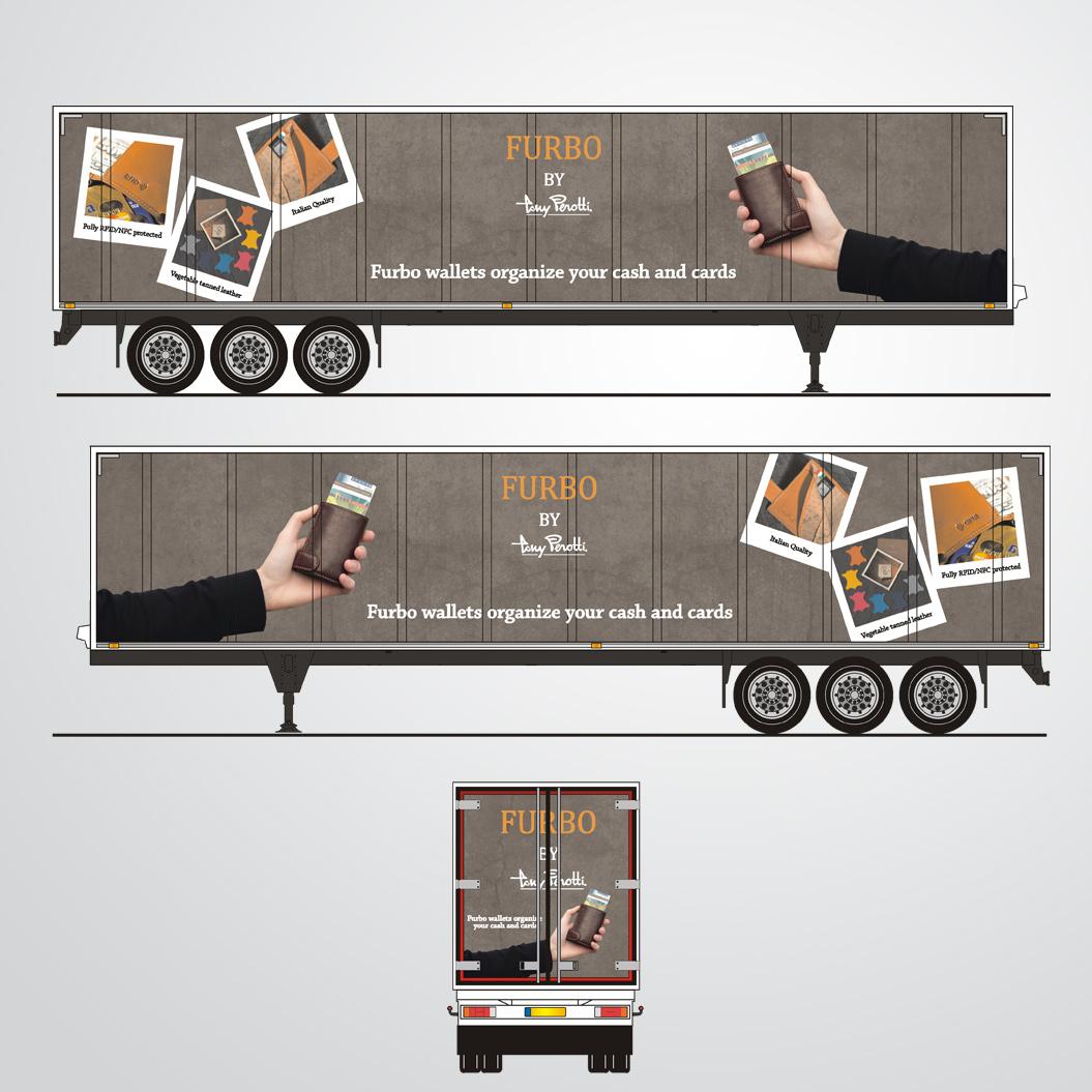 vrachtwagenopdruk gemaakt door Kat Design voor Tony Perotti