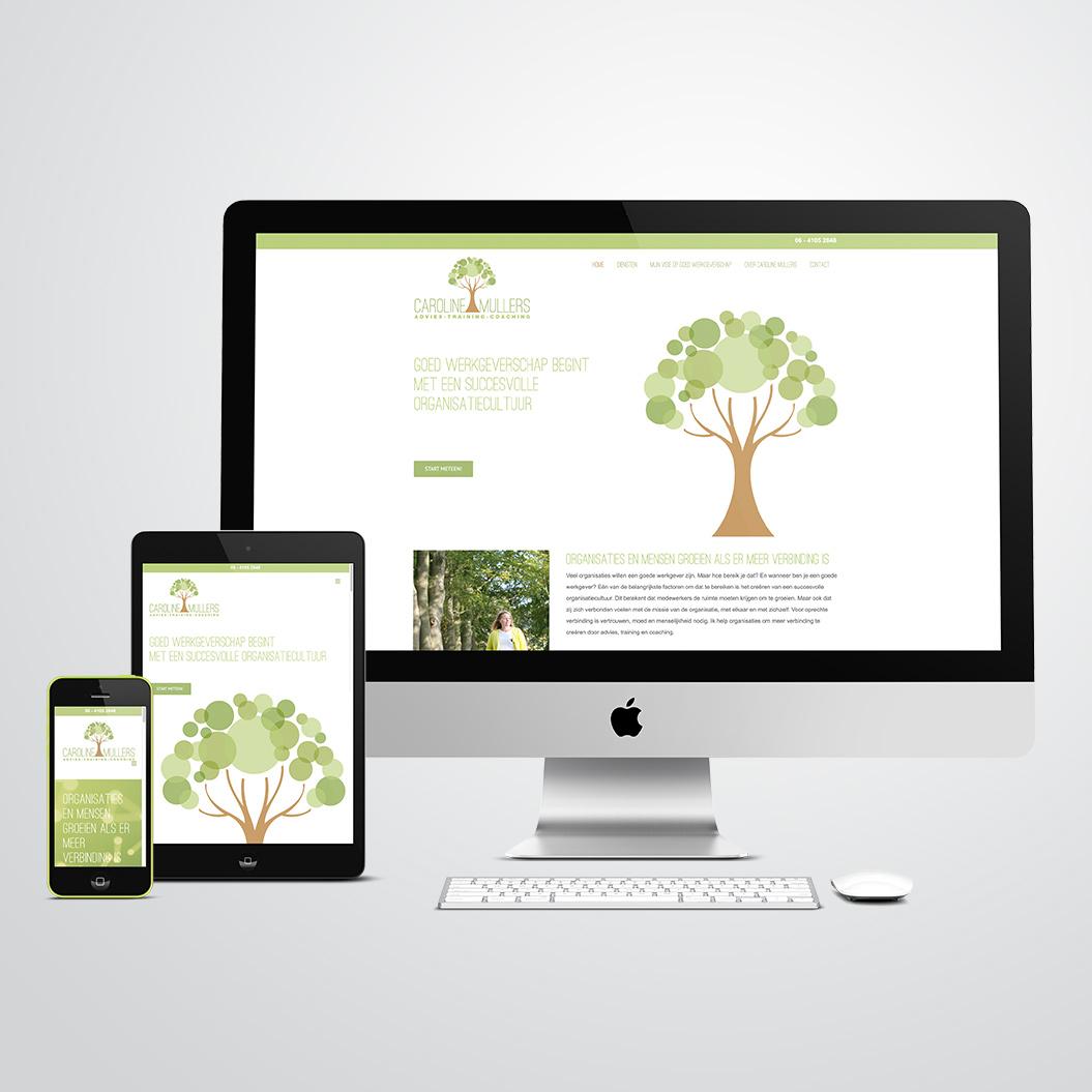 website gemaakt door Kat Design voor Praktijk voor Caroline Mullers