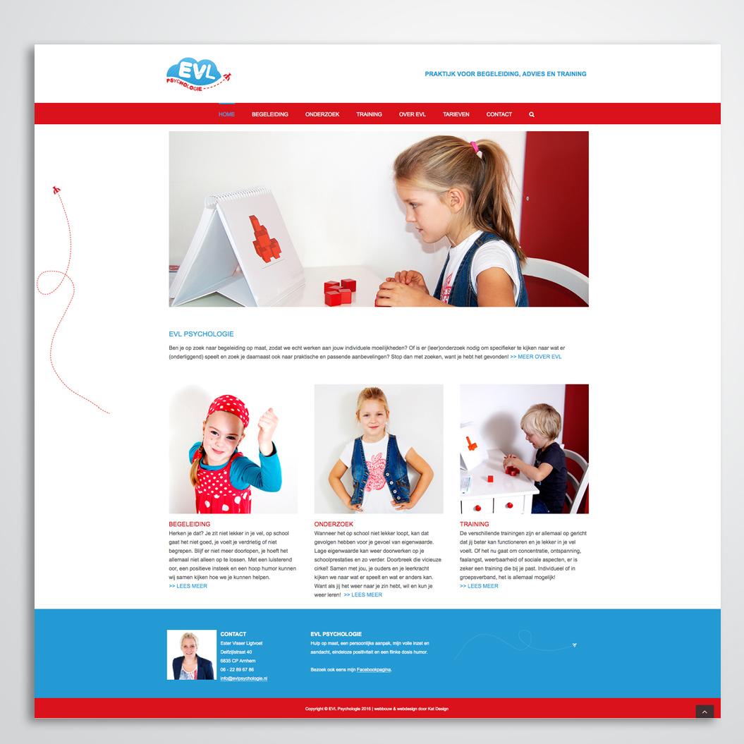 Website gemaakt door Kat Design voor EVL Psycholgie