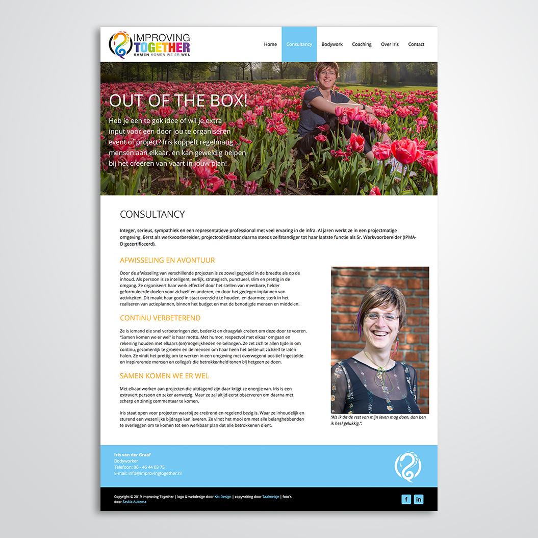 website gemaakt door Kat Design voor Improving Together