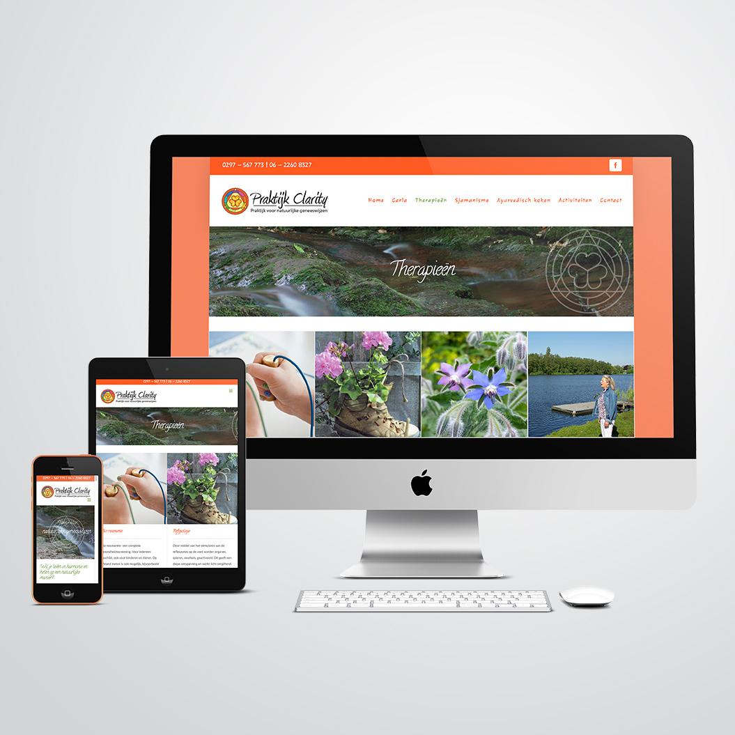 website gemaakt door Kat Design voor Praktijk Clarity