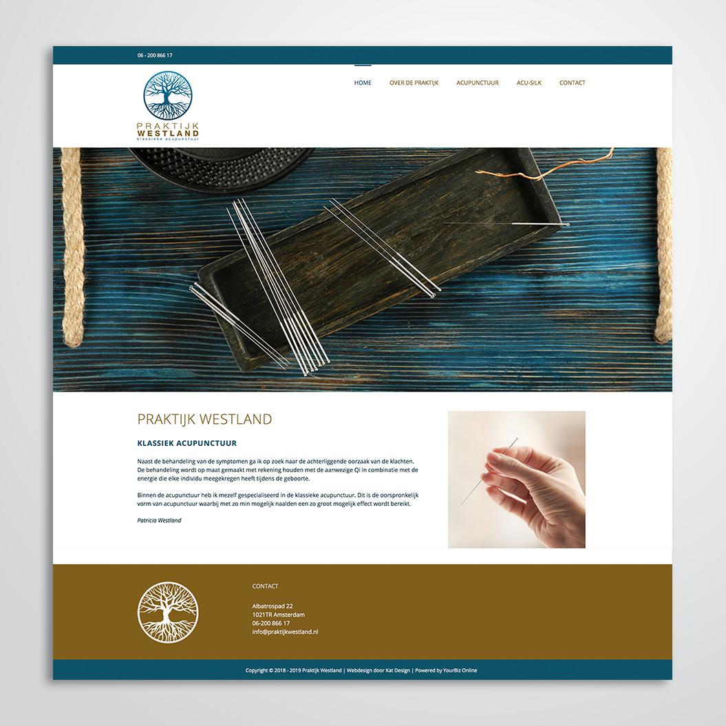 website gemaakt door Kat Design voor Praktijk Westland