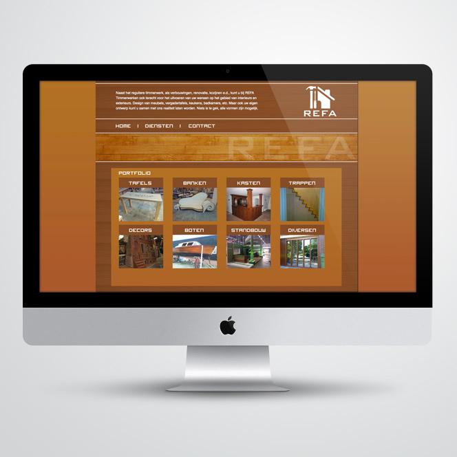 Website voor REFA Timmerwerken