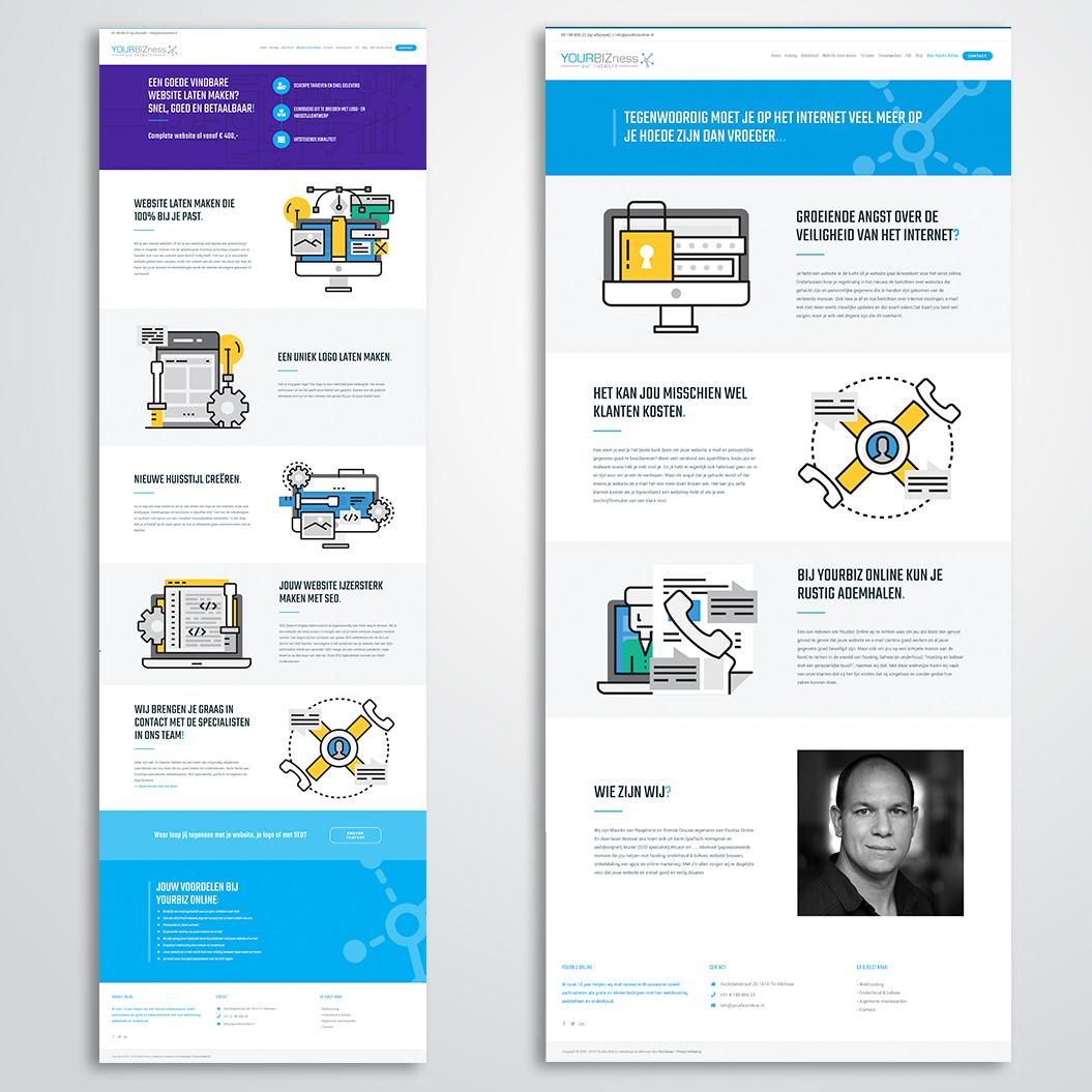 website gemaakt door Kat Design voor Yourbiz Online