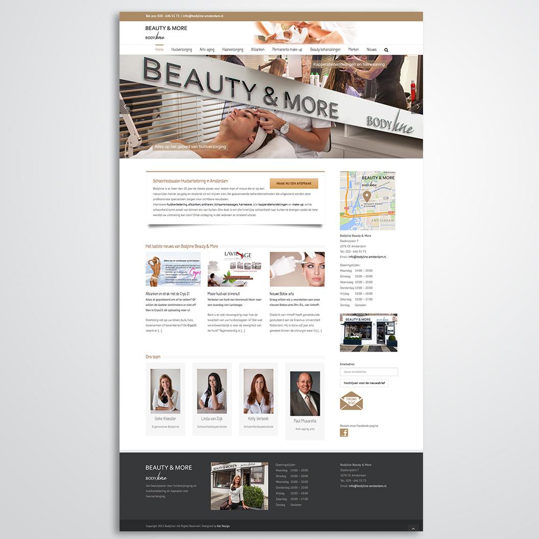 Website gemaakt door Kat Design voor Beautysalon Bodyline Beauty & More