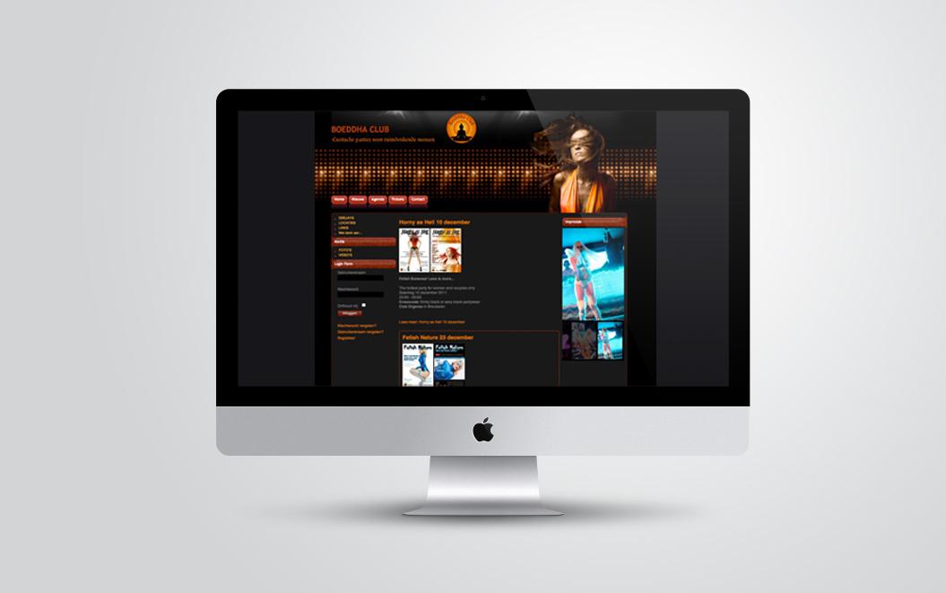 website gemaakt door Kat Design voor Boeddhaclub