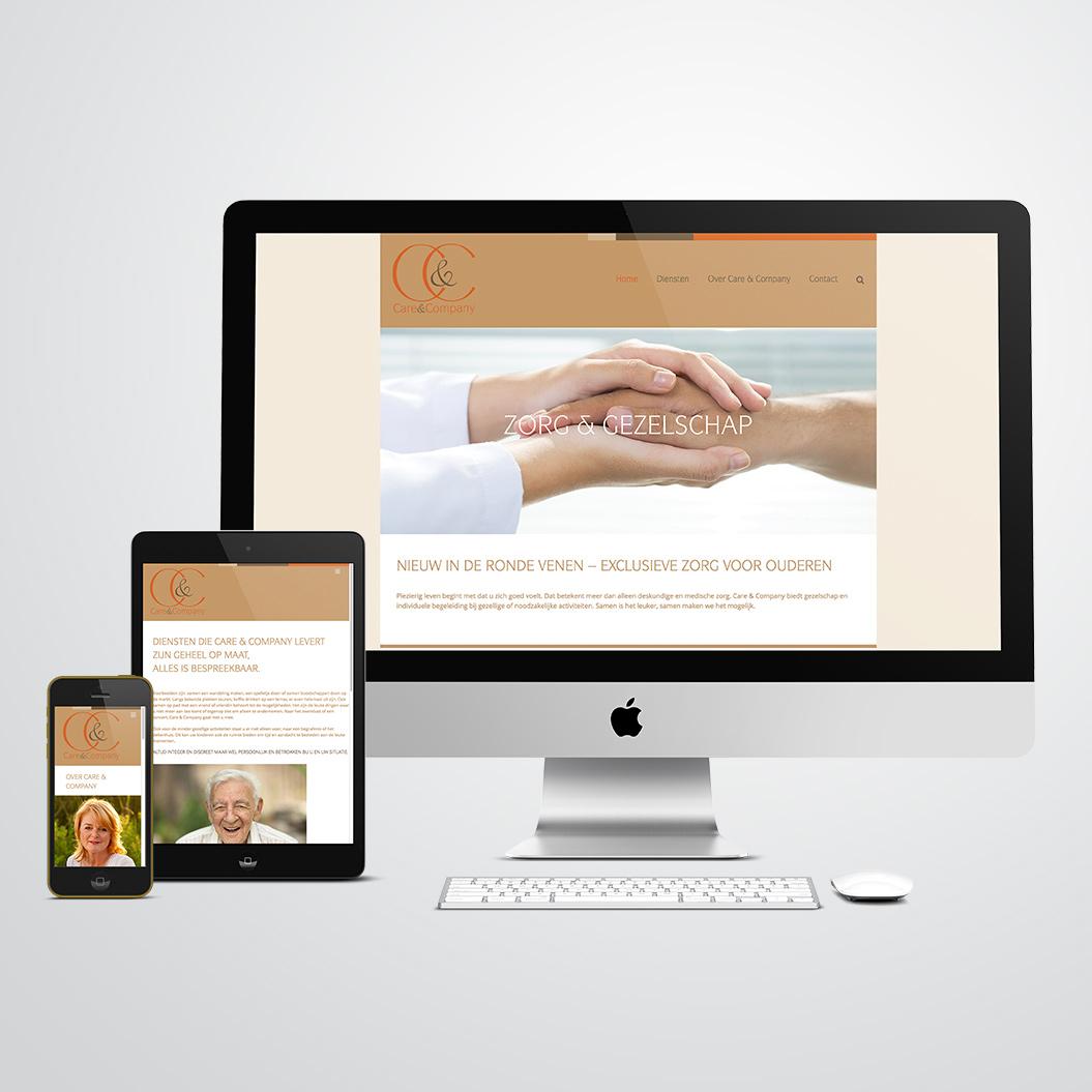 website gemaakt door Kat Design voor Care & Company