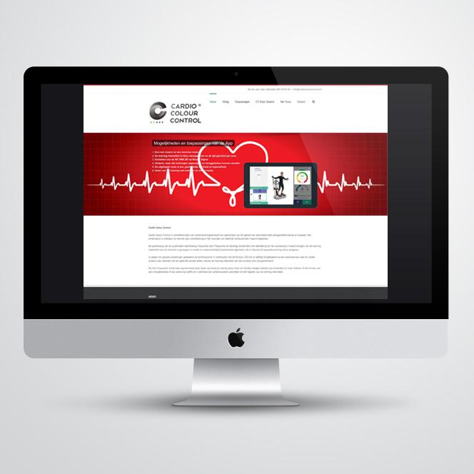 website gemaakt voor Cardio Colour Control