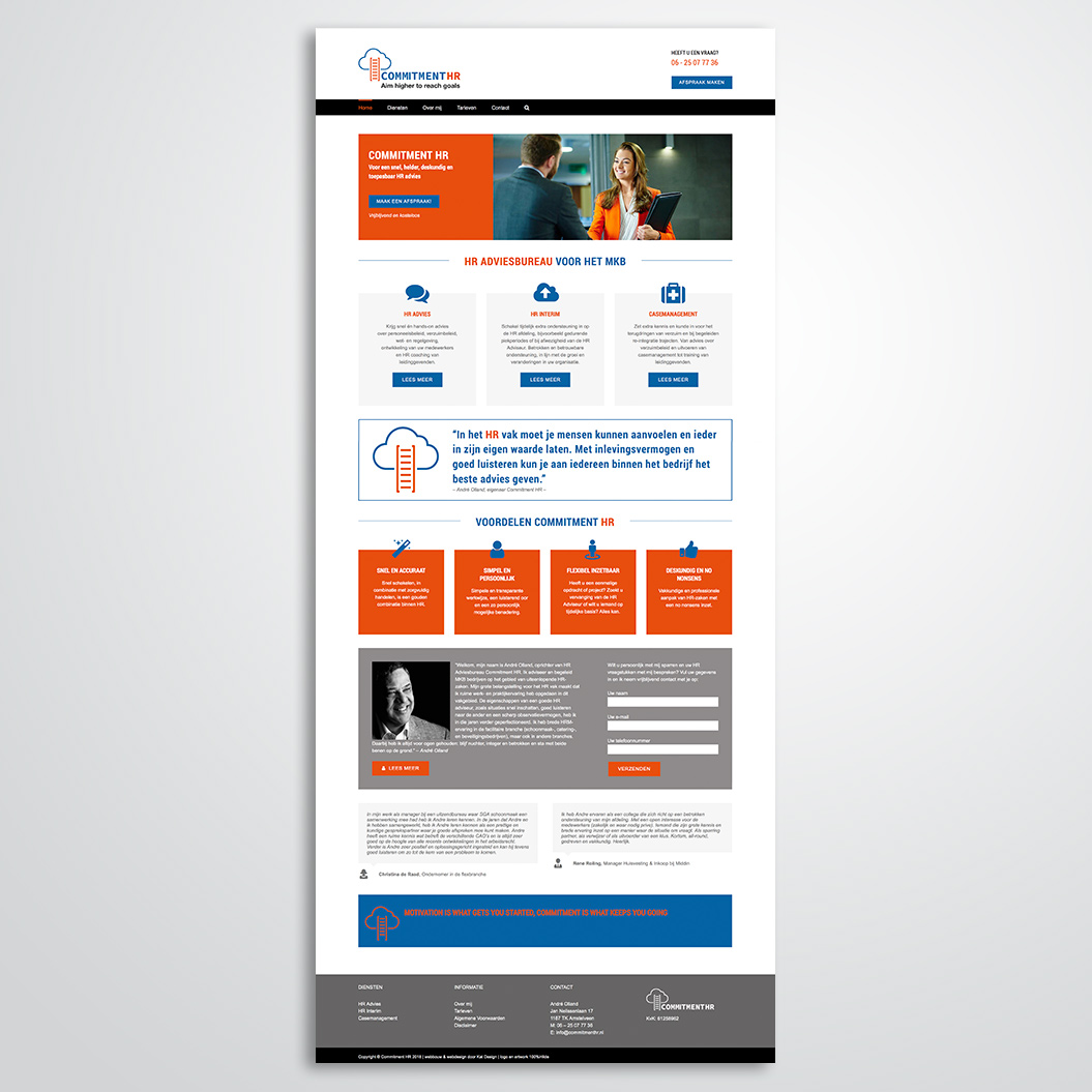 website gemaakt door Kat Design voor Commitment HR