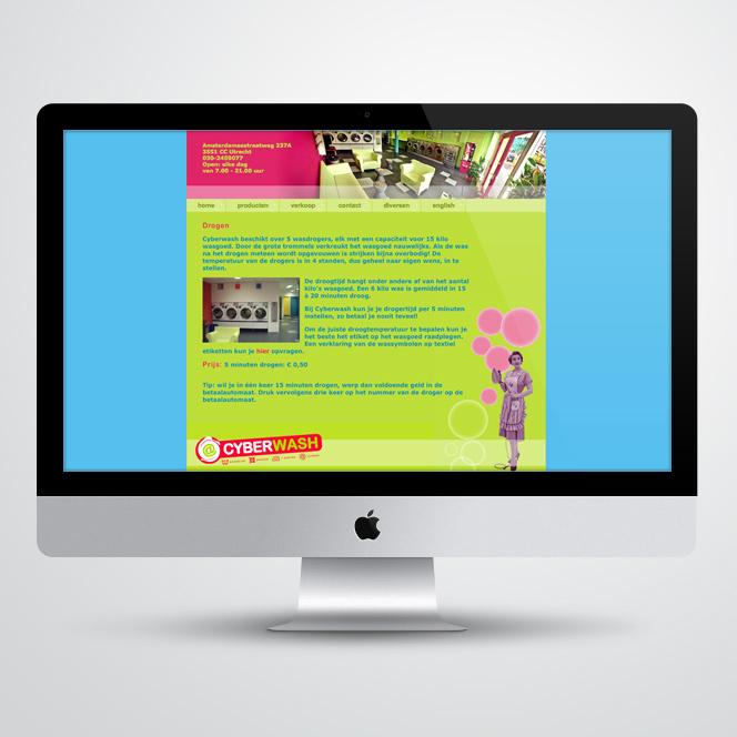 website gemaakt door Kat Design voor Cyberwash
