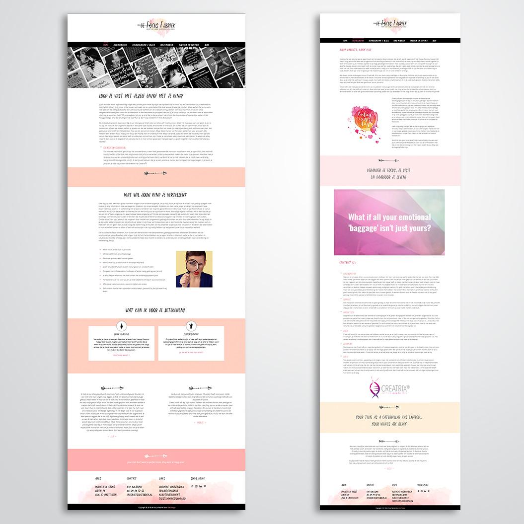 website gemaakt door Kat Design voor de Focusfabriek