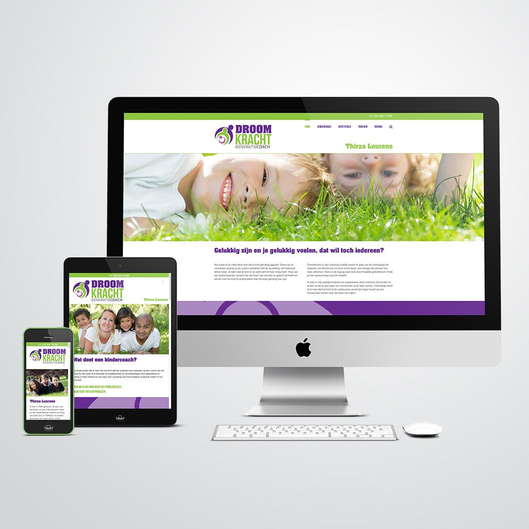 website gemaakt door Kat Design voor droomkracht