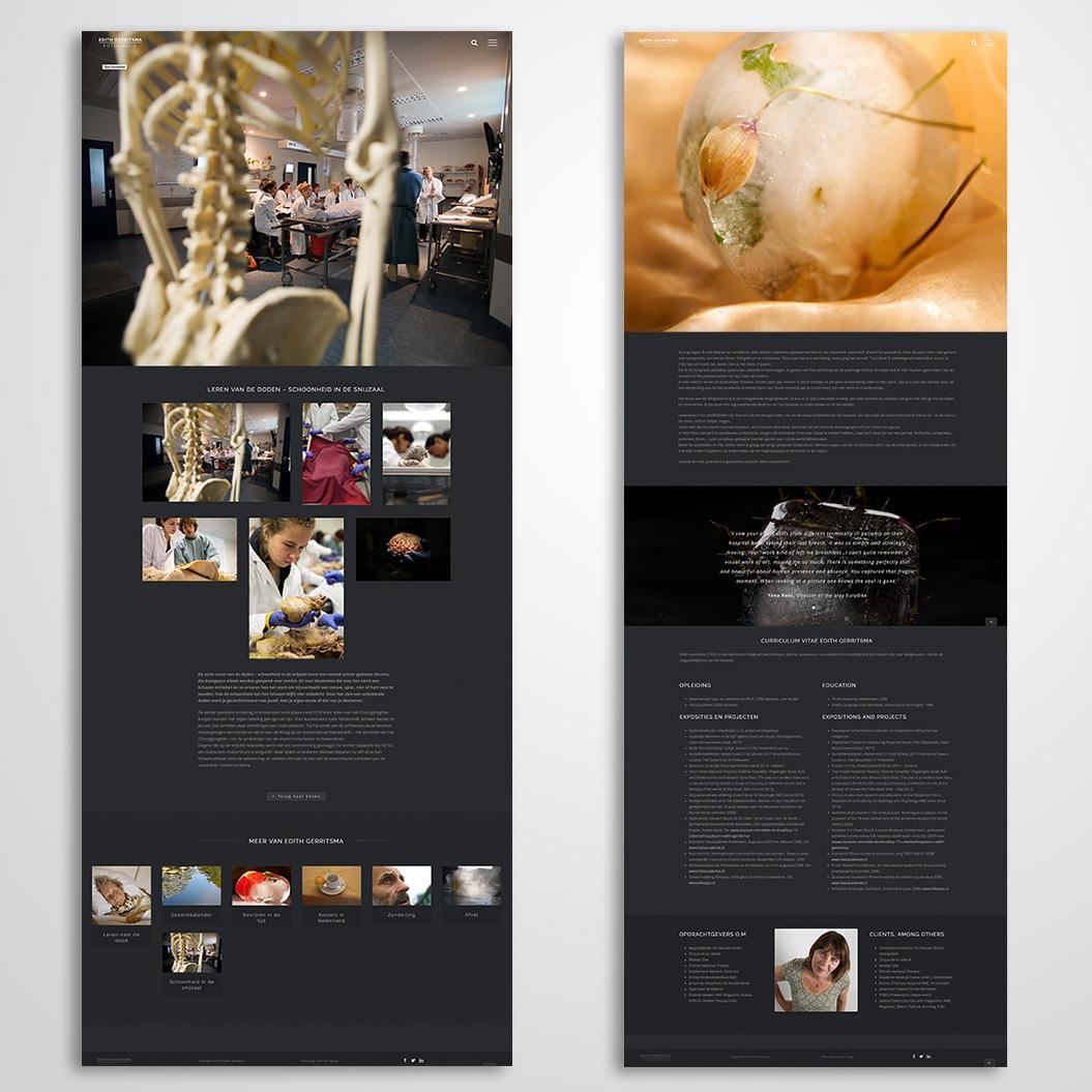 website gemaakt door Kat Design voor Edith Gerritsma