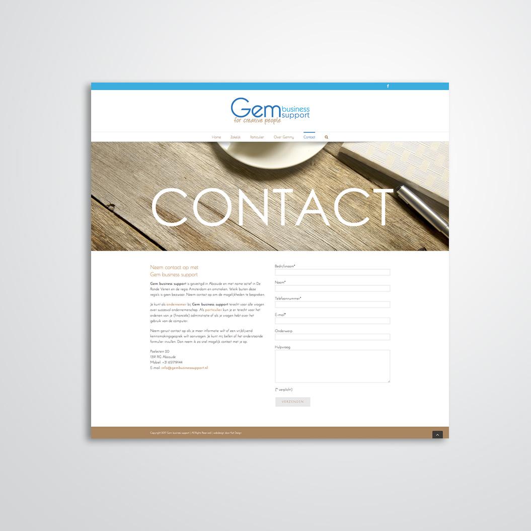 website gemaakt door Kat Design voor Gem business support