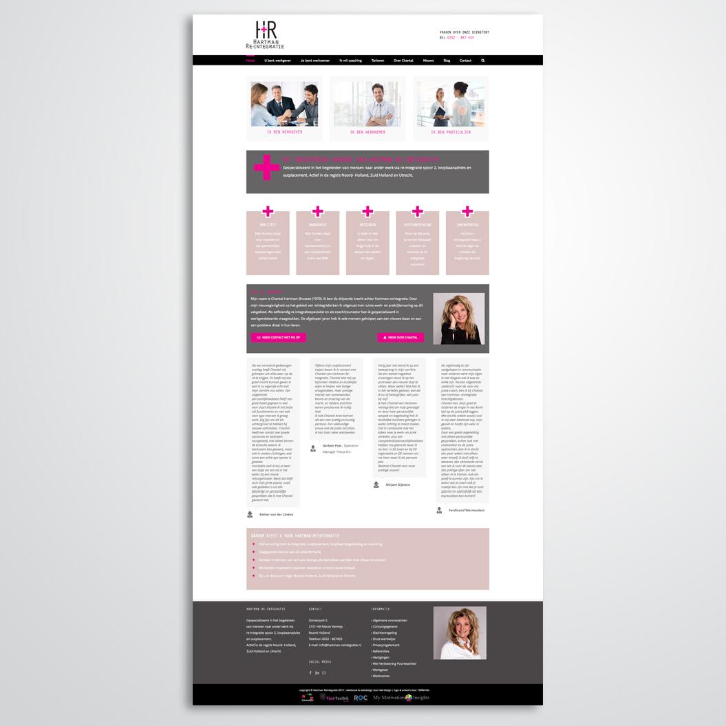 Website gemaakt door Kat Design voor Hartman Reintegratie