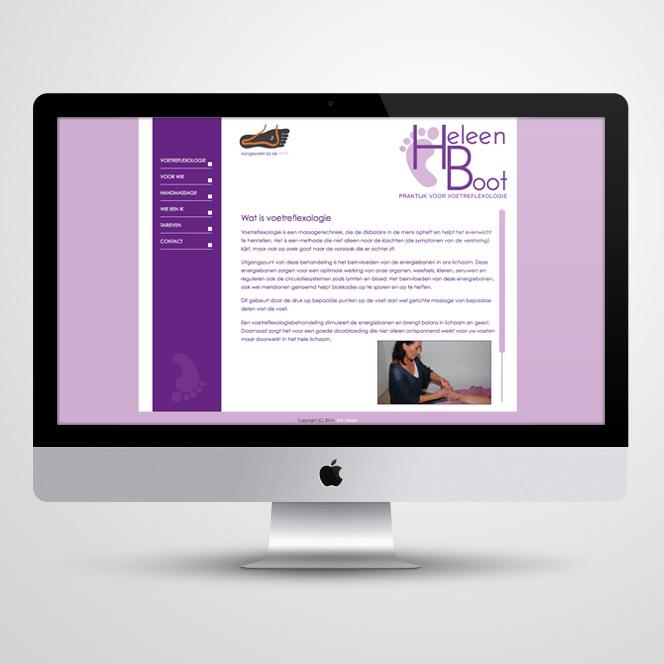website gemaakt voor Kat Design voor pedicure Heleen Boot