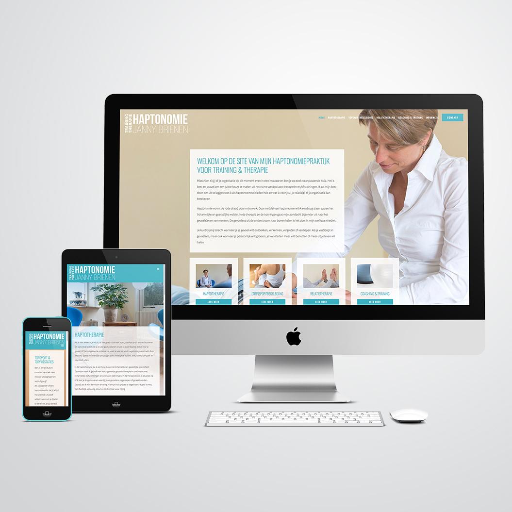 website gemaakt door Kat Design voor Janny Brienen