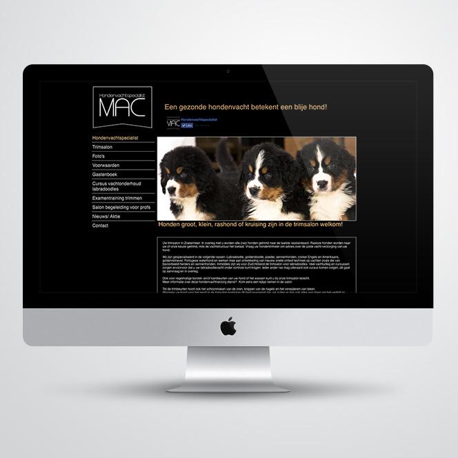 website voor MAC hondenvachtspecialist