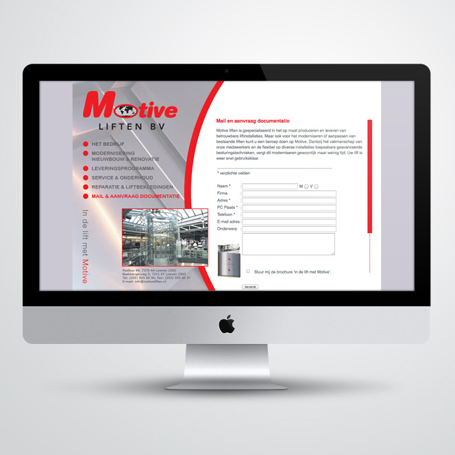Website gemaakt door Kat Design voor Motiveliften bv