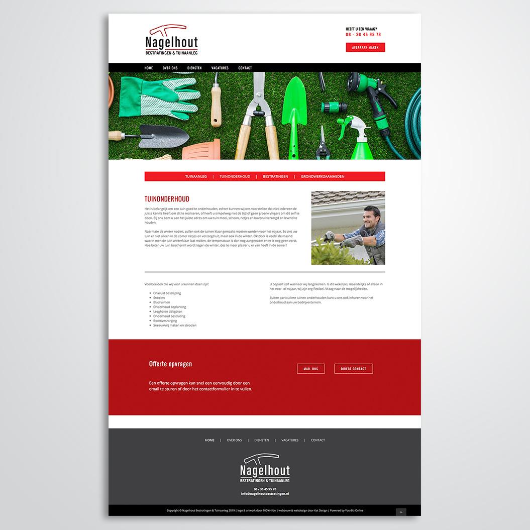 website gemaakt voor Nagelhout Bestratingen en Tuinaanleg