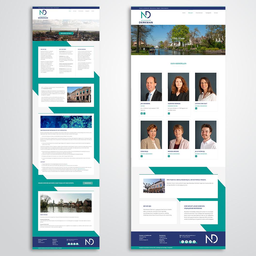 website gemaakt door Kat Design voor notariskantoor Derkman