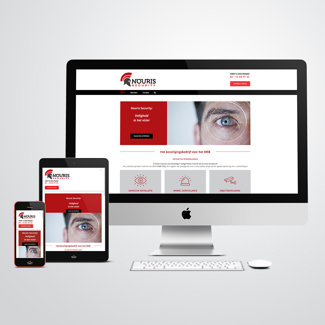 website gemaakt door Kat Design voor Nouris Security