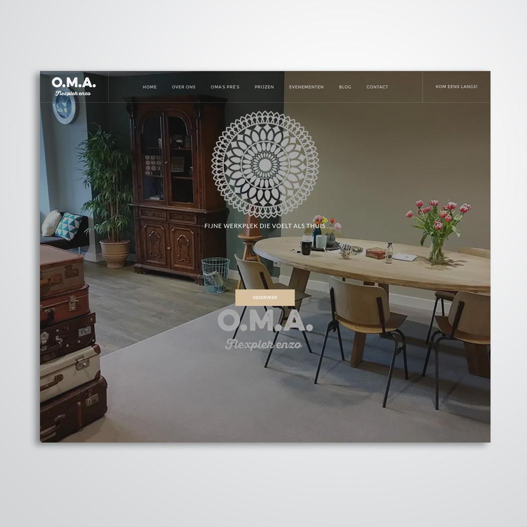 Webdesign door Kat Design voor O.M.A. Flexplek enzo
