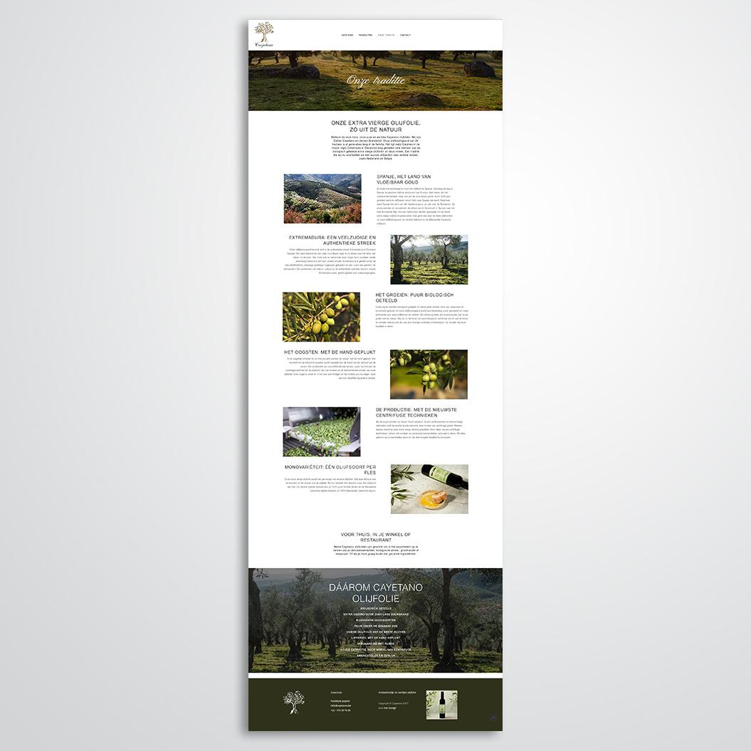 website gemaakt door Kat Design voor Cayetano