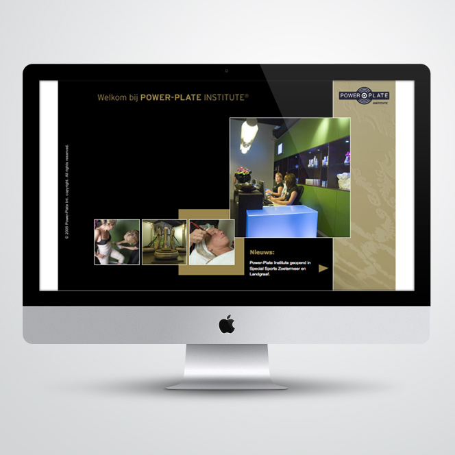website gemaakt voor Powerplate Institute
