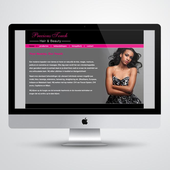 Website gemaakt door Kat Design voor Precious Touch