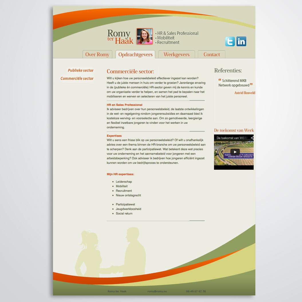 website gemaakt door Kat Design voor Romy ter Haak