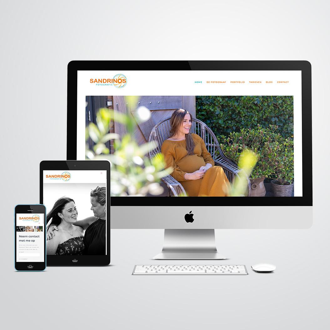 website gemaakt door Kat Design voor Sandrinos Fotografie