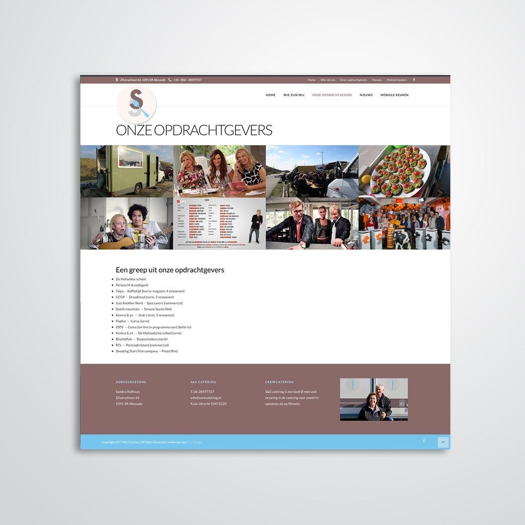 website gemaakt door Kat Design voor S&S Catering