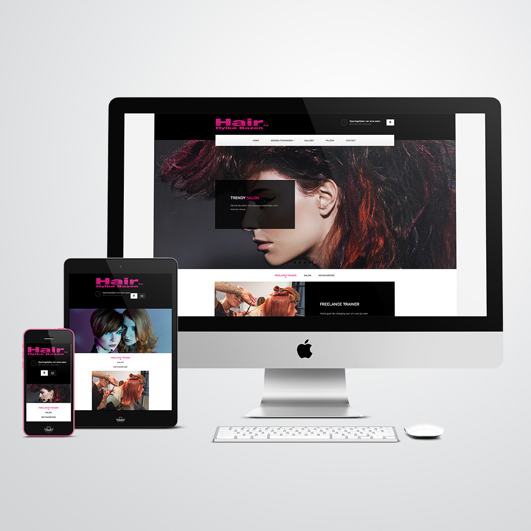 Website gemaakt door Kat Design voor kapster Hair by Hylke