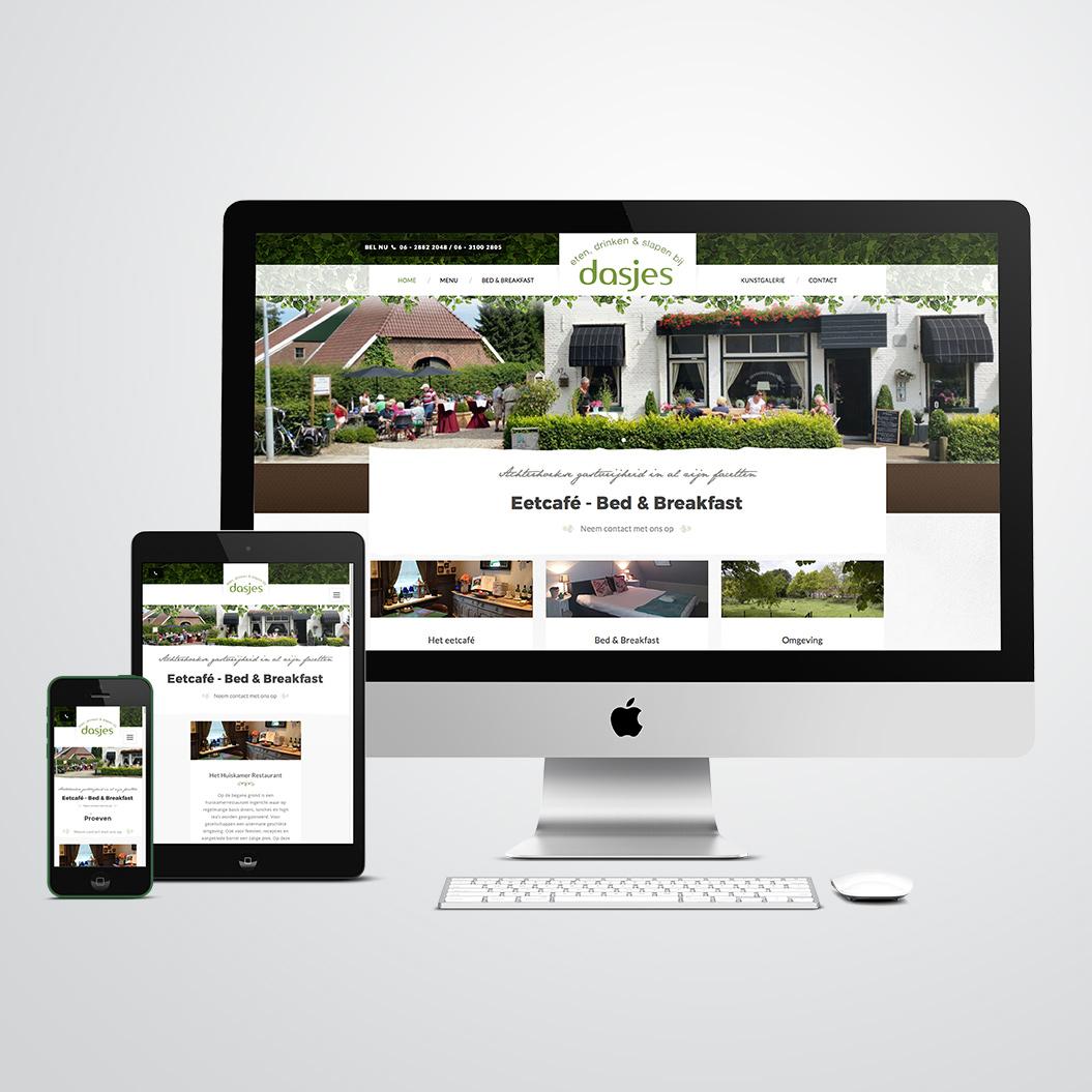 website gemaakt door Kat Design voor restaurant en bed en breakfast Dasjes