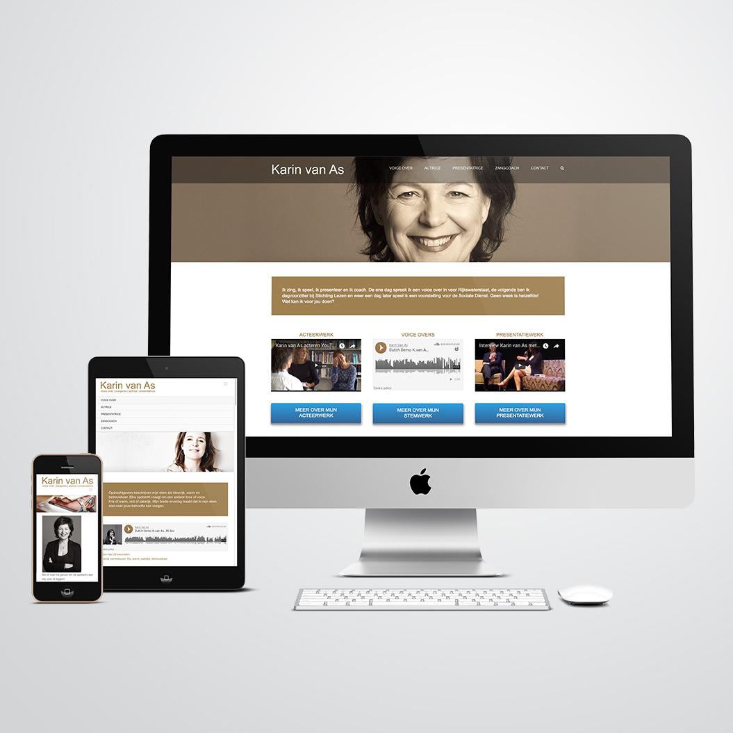 website gemaakt door Kat Design voor karin van as