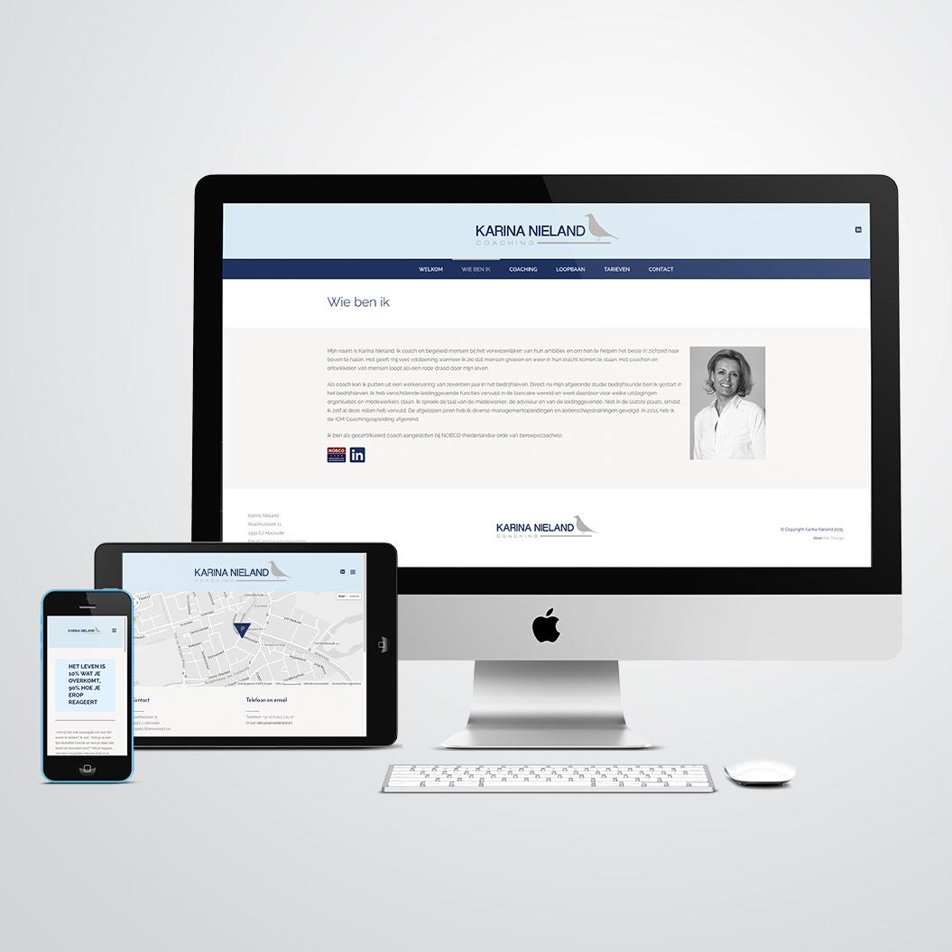 website gemaakt door Kat Design voor coach Karina Nieland