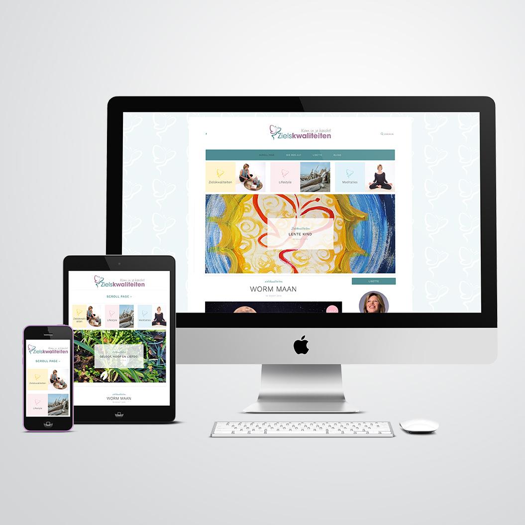 website door Kat Design voor Lisette van Zielskwaliteiten