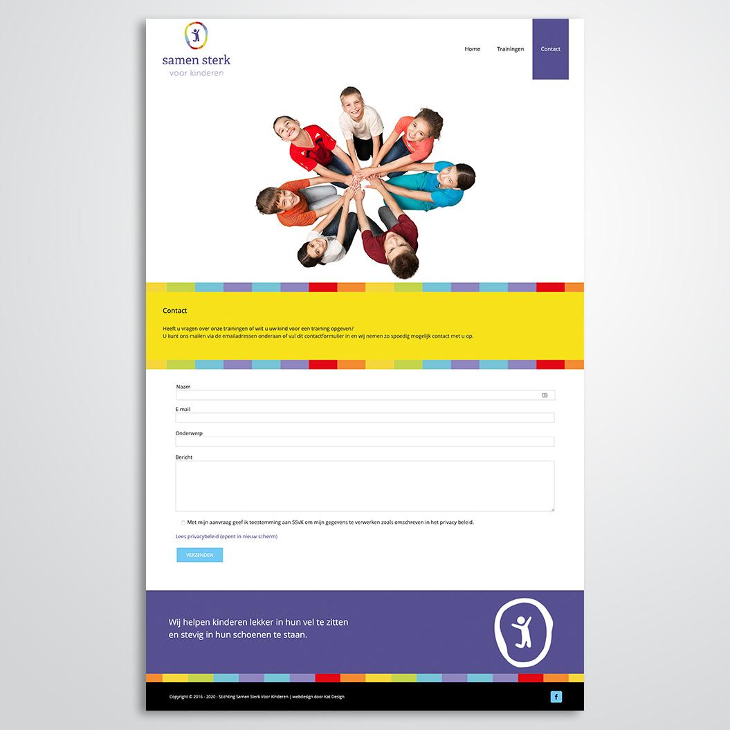 website gemaakt door Kat Design voor Stichting Samen Sterk voor Kinderen