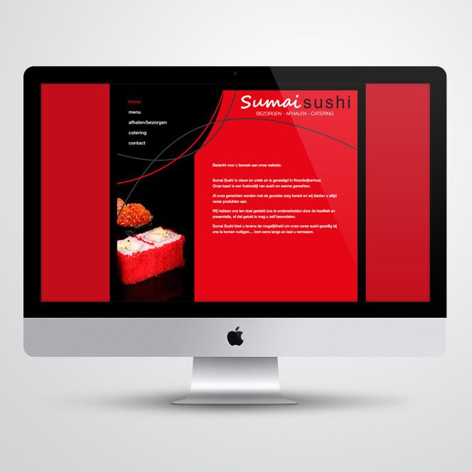 Website gemaakt door Kat Design voor Sumai Sushi